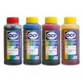 Чернила OCP водорастворимые, 100мл, 4 цвета, для 4 цветных принтеров\мфу Эпсон серии L (100,110,210,355,800..)