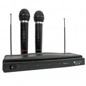 Defender MIC-155 Набор из 2-х беспроводных динамических микрофонов для караоке <64155>
