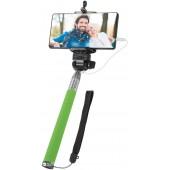 Defender Selfie Master <SM-02 зелёный> Селфи-монопод телескопический для смартфонов <29403>