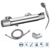 Термостатический смеситель для душа NINE URBAN (система COLD TOUCH, ручной душ, держатель для ручного душа, душевой шланг 175 см, цвет хром)