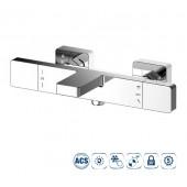 Термостатический смеситель для ванны и душа NINE XTREME (аэратор, автоматический дивертер, цвет хром)