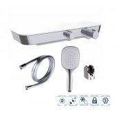 Термостатический смеситель для душа NINE ELEGANCE (ручной душ, держатель для ручного душа, душевой шланг 175 см, цвет хром)