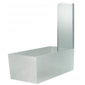 Душевая шторка для ванны SS-148080-14, 80*140 (прозрачное 6 мм стекло, профиль хром, одна распашная створка)