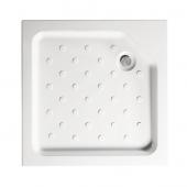 Квадратный акриловый душевой поддон Universal N 80*80 (поддон на цельном металлическом каркасе (высота 16 см, глубина 6,9 см), несъемный экран)