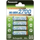 Аккумулятор Panasonic BK-3HGAE/4BE 2700мАч AA BL4, 1 штука