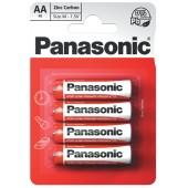 Батарейка (элемент питания) Panasonic Zinc Carbon R6RZ/4BP R6 BL4, 1 штука