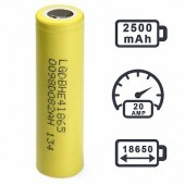Высокотоковый аккумулятор Li-Ion 18650 LG LGDBHE41865 2500мАч 20А, без защиты, 1 штука