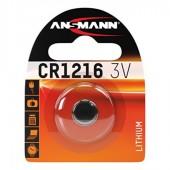 Батарейка (элемент питания) Ansmann Lithium CR1216 3V (1516-0007), 1 штука
