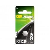 Батарейка (элемент питания) GP Lithium CR1220, 1 штука