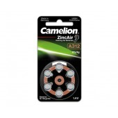 Батарейка (элемент питания) Camelion Zinc-Air A312-BP6 (0% Hg) BL6, 1 штука