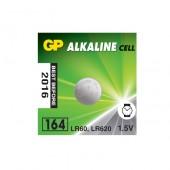 Батарейка (элемент питания) GP Alkaline 164/LR620/AG1, 1 штука