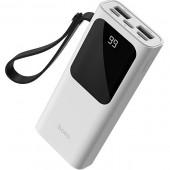 Внешний АКБ HOCO J41 Treasure Mobile Power Bank 10000мАч 2*USB 2,1A (белый)