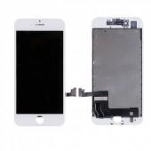 LCD дисплей для Apple iPhone 7 с рамкой крепления, (оригинал, переклей) белый