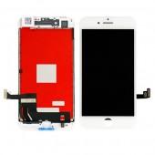 LCD дисплей для Apple iPhone 8 Plus с рамкой крепления (оригинал, переклей) белый
