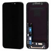 LCD дисплей для Apple iPhone XR с тачскрином, (Оригинал, переклей) черный