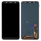 LCD дисплей для Samsung J8 2018 J800 Черный в сборе (Оригинал, переклей)