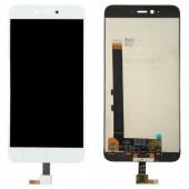 LCD дисплей для Xiaomi Redmi 5A, Redmi Go в сборе с тачскрином, белый Оригинал-переклей