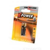 Батарейка (элемент питания) Ansmann X-POWER 1510-0005 AAAA BL2, 1 штука
