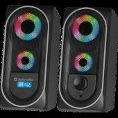 Колонки 2.0 Defender Solar 4 8Вт, BT/Light, питание от USB (65404)