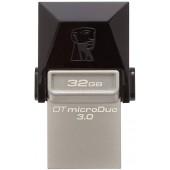 64 Gb USB3.0/USB micro-B OTG Kingston MicroDuo DTDUO3/64Gb Black (раскладной/пластик-металл) Retail