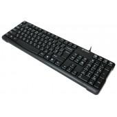 Клавиатура A4Tech KR-750 Black, USB (стандартная для ПК, интерфейс подключения - USB, цвет черный)