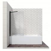 Душевая шторка с неподвижной дверью 16041207, 80*140 см (прозрачное 6 мм стекло CrystalPure, покрытие Easy Clean с внутренней стороны стекла, профиль матовый черный)