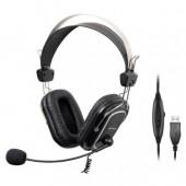 Наушники с микрофоном A4Tech HU-50 (мониторные (охватывающие), для общения, 20-20000 Гц, кабель 2 м)