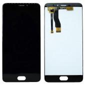 LCD дисплей для Meizu M5 Note (M621H) в сборе с тачскрином (черный) Оригинал-переклей