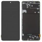 LCD дисплей для Samsung Galaxy A71 (A715F) Черный в сборе (Оригинал)