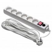 Сетевой фильтр BURO 600SH-5-W 5м (6 розеток) белый