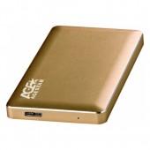 """HDD case 2.5"""" Agestar 31UB2A16 (SATA, USB 3.0) Gold"""