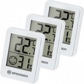 Гигрометр и термометр Bresser Temeo Hygro, набор 3 шт., белый