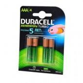 Аккумулятор Duracell HR03 AAA 900мАч BL4, 1 штука