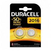 Батарейка (элемент питания) Duracell CR2016 BL2, 1 штука