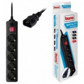 Сетевой фильтр BURO 500SH-1.8-UPS-B 1.8м (5 розеток) для ИБП, черный