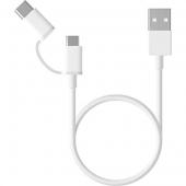 Xiaomi Mi 2-in-1 USB Cable Micro USB to Type C (30cm) SJV4083TY (SJX01ZM)