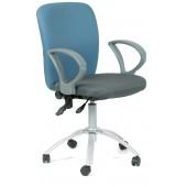 <1102198> Офисное кресло Chairman 9801 сид15-13 сер/сп 15-41 гол