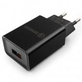 Cablexpert <MP3A-PC-17> Зарядное устройство USB (Вх.AC100-240V, Вых. DC5V/9V/12V, USB 3A)
