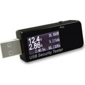 <J7-t> Цифровой тестер USB (3-30В, 0-5А, 0-999ч, 0-99999мАч, 0-999 Втч, 0-999Ом, 0-84°С)