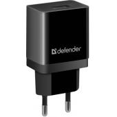 Defender UPA-21 Black <83577> Зарядное устройство USB (Вх. AC100-240V, Вых. DC5V, USB 2.1A)