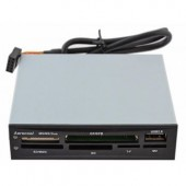 "Aerocool <АТ-981>3.5"" Internal USB2.0 CF/MD/MMC/SDHC/microSDHC/xD/MS(/Pro/Duo/M2) Card Reader/Writer+1xUSB2.0"