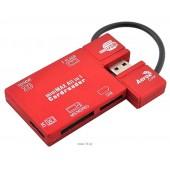 Aerocool <AT-819> USB2.0 MMC/SDHC/microSDHC/MS(/Pro/M2)/SIM Card Reader/Writer