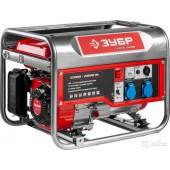 ЗУБР Мастер <ЗЭСБ-2800> Генератор бензиновый (2.8 кВт, 220 В ~50 Гц, 12 В, 196 см3, 15 л)