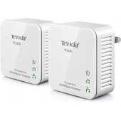 TENDA <P200 KIT> AV200 Powerline Mini Adapter KIT (2 адаптера,1UTP 100Mbps, Powerline 200Mbps)