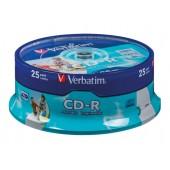 CD-R Verbatim 700Mb 52x sp. <уп.100 шт> на шпинделе <43411/43430>