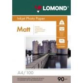 Фотобумага Lomond 0102001 A4/90г/м2/100л./матовая для струйной печати до 2880dpi hv