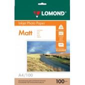 Фотобумага Lomond 0102002 А4/100г/м2/100л/матовый двухсторонний