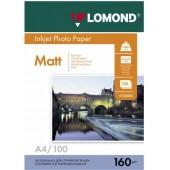 Фотобумага Lomond 0102005 A4/160г/м2/100л./белый/матовое для струйной печати