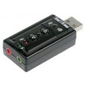 TRUA71 (C-Media CM108) 2.0 channel out 44-48KHz volume control (7.1 virtual chann