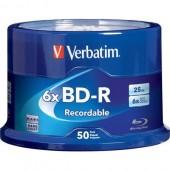BD-R Disc Verbatim 25Gb 6x <уп.25 шт> на шпинделе, printable <43811>